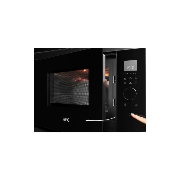 aeg mbb1756dem 800w 17l built in microwave grill black with antifingerprint stainless steel