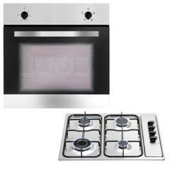 Matrix MBG002SS Four Function Electric Oven & Gas Hob Pack - Stainless Steel