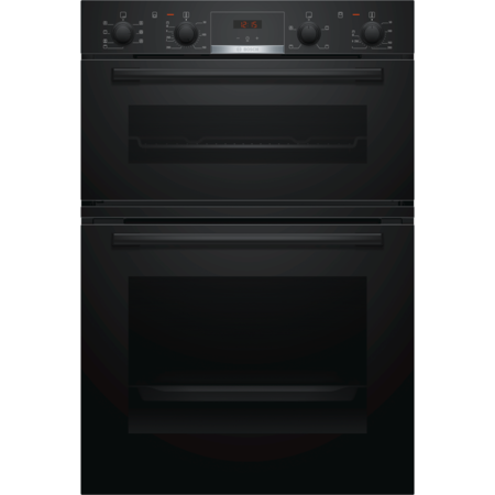Bosch MBS533BB0B Serie 4 Multifunction Electric Built In Double Oven With Catalytic Cleaning - Black