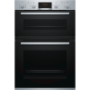 Bosch MBS533BS0B Serie 4 Multifunction Electric Built In Double Oven - Stainless Steel
