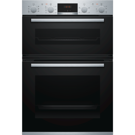 Bosch MBS533BS0B Serie 4 Multifunction Electric Built-in Double Oven With Catalytic Cleaning - Stainless Steel