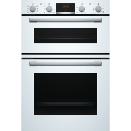 Bosch MBS533BW0B Serie 4 Multifunction Electric Built In Double Oven With Catalytic Cleaning - White