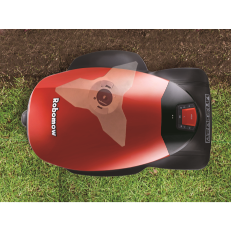 Robomow PRD7006Y1 Robotic Lawn Mower For Lawns Up to 500 Square Metres Black And Red
