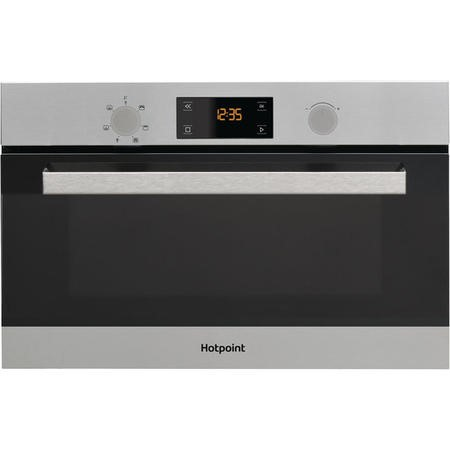 GRADE A2 - Hotpoint MD344IXH 31L Built-in Microwave with Grill Stainless Steel