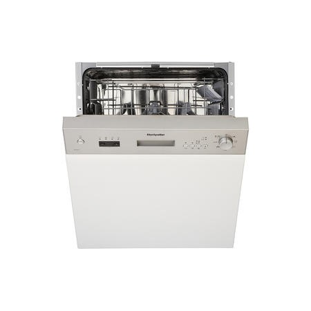 Montpellier MDI650X 12 Place Semi-Integrated Dishwasher With Stainless Steel Control Panel