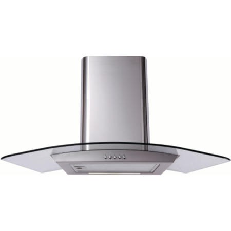 Matrix MEP901SS Curved Glass 90cm Chimney Cooker Hood Stainless Steel