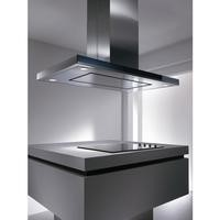 Elica MERIDIANA Touch Control Stainless Steel And Glass 120cm Wide Island Cooker Hood With EDS3 Noise Reduction System