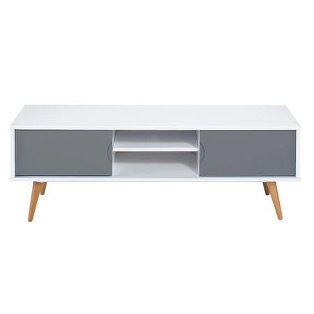 Montana Scandi TV Unit in Grey and White