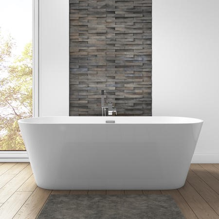 Mews Modern Freestanding Bath - 1650 x 740 x 580mm