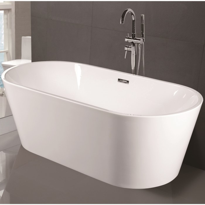 Duchess Modern Round Freestanding Bath - 1700 x 800 x 580mm MFSB05 ...