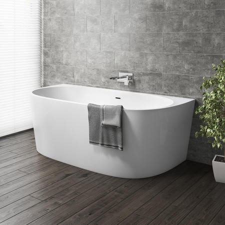 Gable Modern Back To Wall Freestanding Bath - 1700 x 800 x 580mm