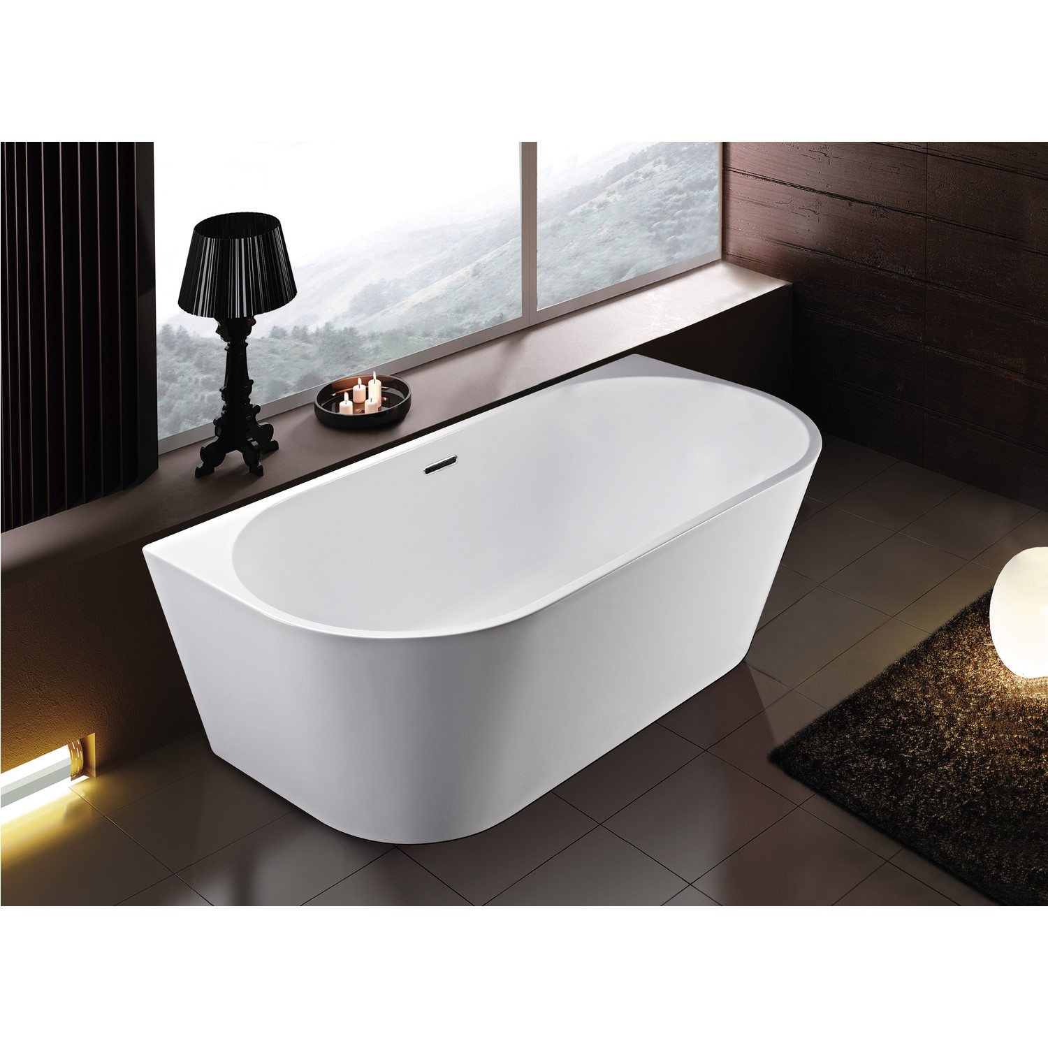 Darcy Modern Back To Wall Freestanding Bath 1500 X 750 X 580mm