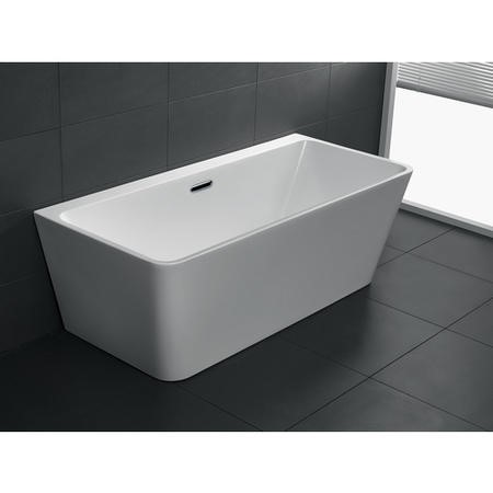 Darcy Modern Back to Wall Freestanding Bath - 1780 x 800 x 580mm