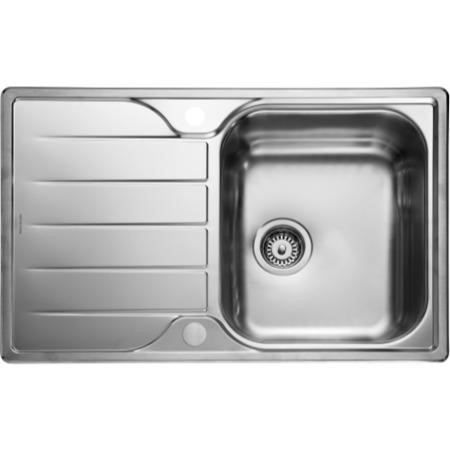 Rangemaster Michigan Compact 1.0 Bowl 800 x 508 Stainless Steel Sink