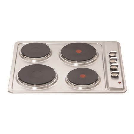 Matrix MHE001SS 60cm Solid Plate Electric Hob - Stainless Steel