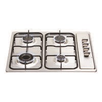 Matrix MHG100SS 60cm 4 Burner Gas Hob - Stainless Steel