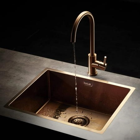 Single Bowl Copper Stainless Steel Kitchen Sink - Reginox