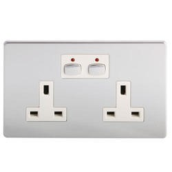Energenie MiHome Style - Double Socket - chrome