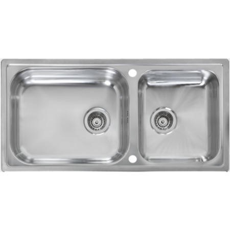 Reginox MINISTER-15 Large 1.5 Bowl Reversible Inset Stainless Steel Sink