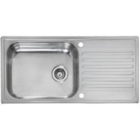 Reginox MINISTER-REVERSIBLE Large 1.0 Bowl Reversible Inset Stainless Steel Sink