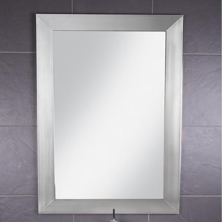 Croydex Parkgate Rectangular Mirror with Brushed Stainless Steel ...