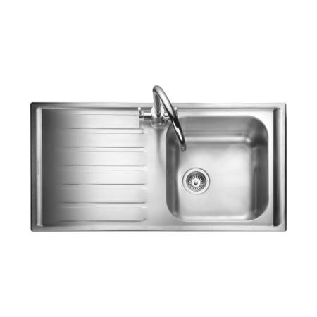 Rangemaster MN10101R Manhattan 1010x515 1.0 Bowl RHD Stainless Steel Sink