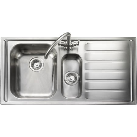 Rangemaster Manhattan 1010x515 1.5 Bowl RHD Stainless Steel Sink