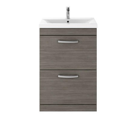 Hudson Reed Grey 2 Drawer Bathroom Vanity Unit & Basin