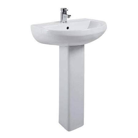 Arc Pedestal Sink - 1 Tap Hole