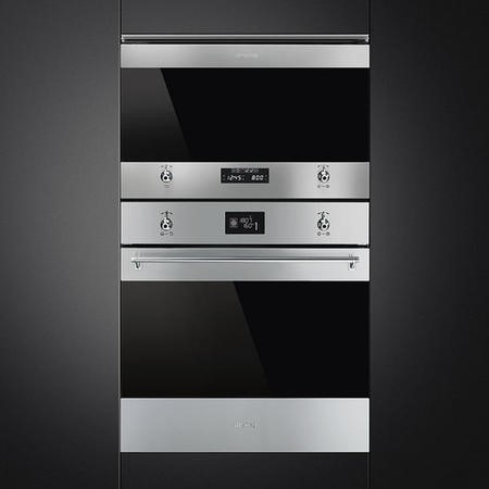 Smeg MP322X1 Classic Built-in Microwave Oven And Grill - Stainless Steel