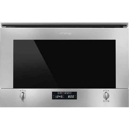 Smeg MP422X1 Cucina Built-in Microwave Oven With Grill - Stainless Steel