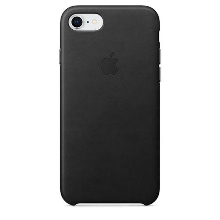 Apple iPhone 7/8 Leather Case - Black