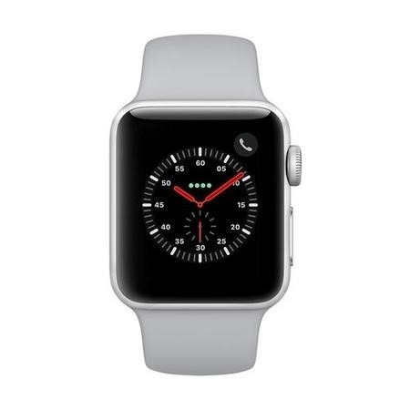 Apple Watch Sport Series 3 GPS + Cellular 38mm Silver Aluminium Case with Fog Sport Band