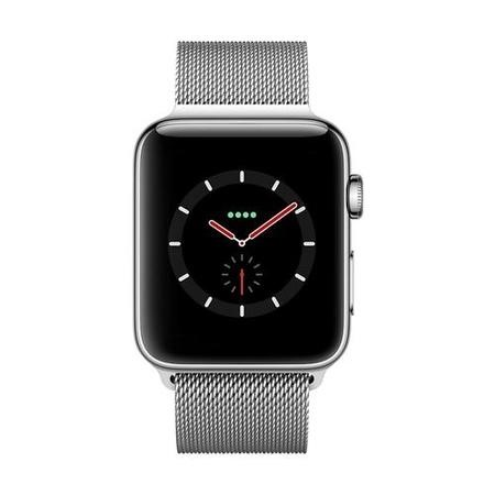 Apple Watch Series 3 GPS + Cell 42mm Stainless Steel Case with Milanese Loop