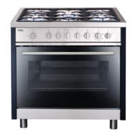 Matrix MR311SS Single Oven 90cm Gas Range Cooker - Stainless Steel
