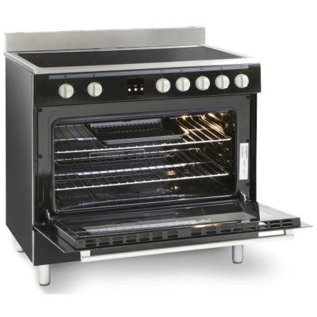 Montpellier MR90CEMK 90cm Electric Single Oven Range Cooker With Ceramic Hob Black