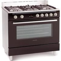 Montpellier MR90DFMK 90cm Dual Fuel Single Oven Range Cooker Black