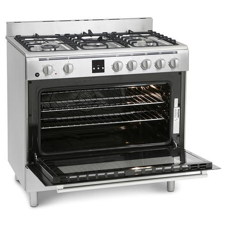 Montpellier MR90DFMX 90cm Dual Fuel Single Oven Range Cooker Stainless Steel