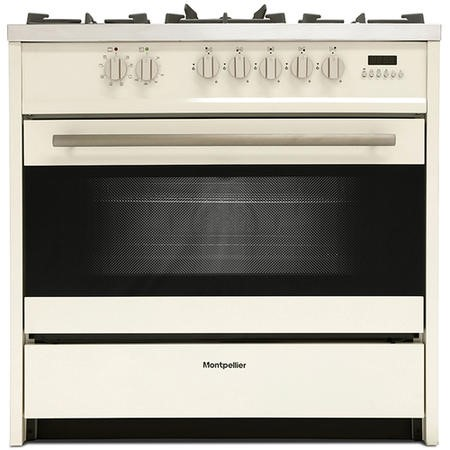 Montpellier MR95DFCR 90cm Twin Cavity Dual Fuel Range Cooker - Cream