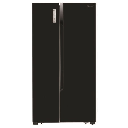 Fridgemaster MS91518FFB 516 Litre American Style Fridge Freezer Frost Free Ice Dispenser 2 Door 91cm Wide - Black