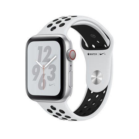 Apple Watch Nike+ Series 4 GPS + Cellular 44mm Silver Aluminium Case with Pure Platinum/Black Nike