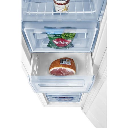 Fridgemaster MTZ55183FF 55cm Wide Frost Free Freestanding Upright Freezer - White