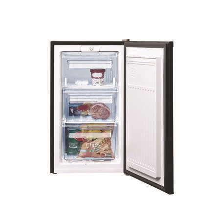Fridgemaster MUZ4965B 50cm Wide Freestanding Upright Under Counter Freezer - Black