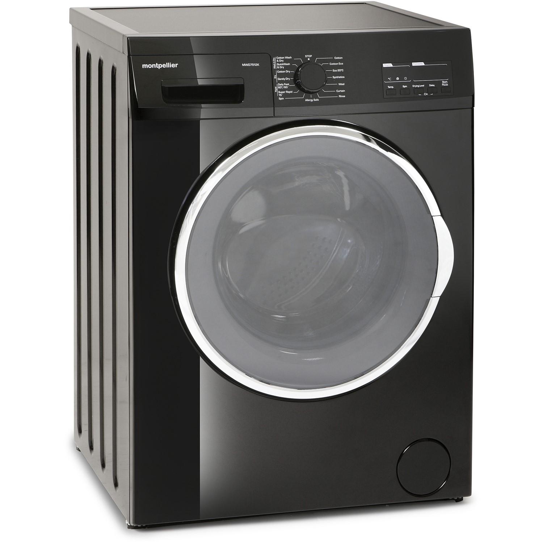 montpellier mwd7512k 7kg wash 5kg dry 1200rpm washer dryer black