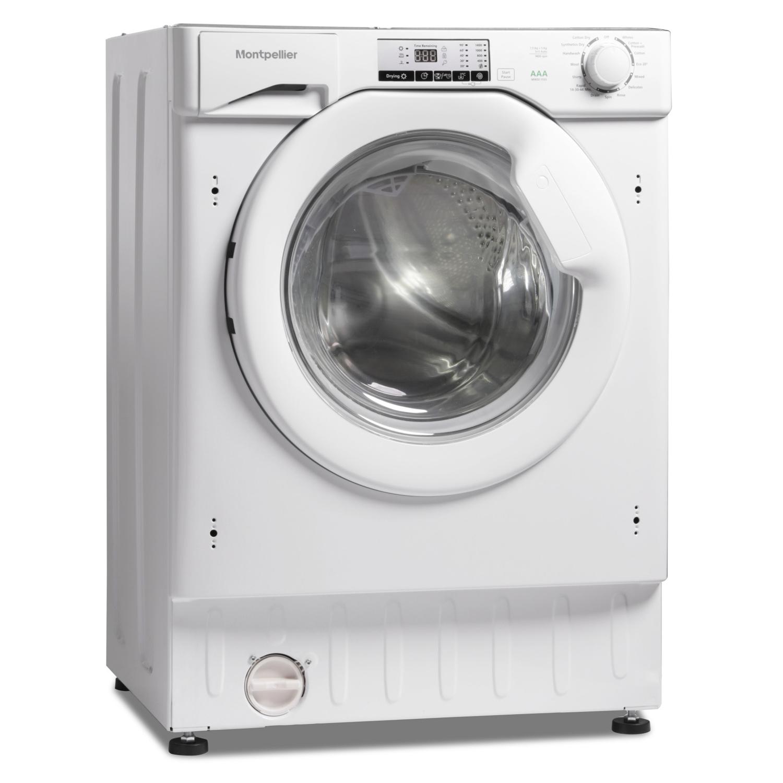 Montpellier MWDI7555 7 5kg Wash 5kg Dry 1400rpm Integrated Washer  Dryer-White