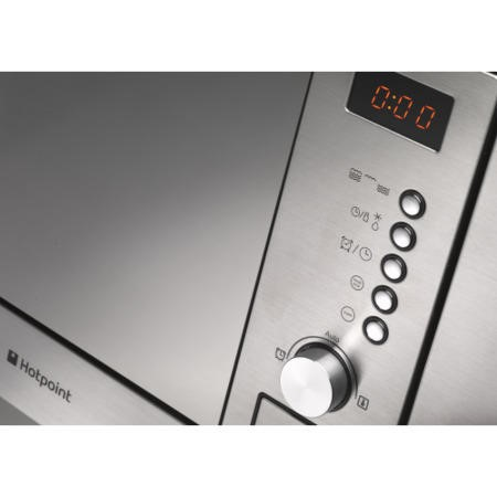 Hotpoint MWH1221X 20 Litre Built-In Microwave With Grill - Stainless Steel