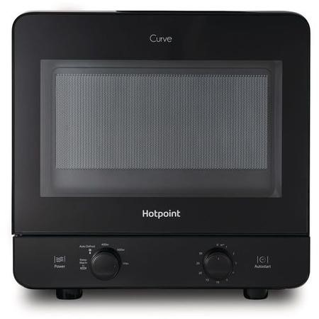 Hotpoint MWH1311B 13L 700W Freestanding Curve Microwave Oven Black