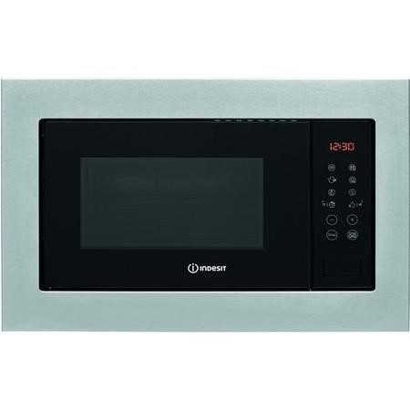 Indesit MWI125GX 25L 900W Built-in Microwave & Girll - Stainless Steel