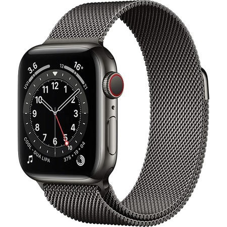 Apple Watch Series 5 GPS + Cellular 40mm Space Black Stainless Steel Case with Space Black Milanese Loop