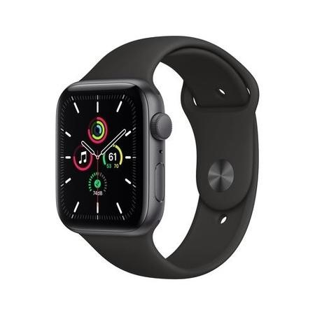 Apple Watch SE GPS - 44mm Space Gray Aluminium Case with Black Sport Band - Regular